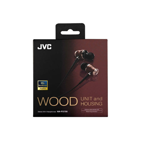 JVC HA-FX750 In-Ear Wood Dome Headphones