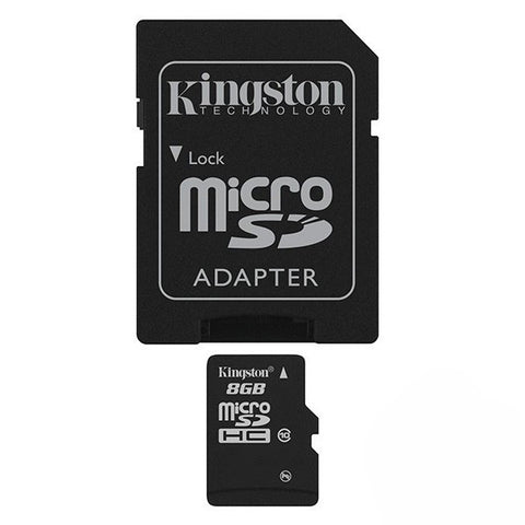Kingston 8GB T-Flash/Micro SDHC (Class 10) with Adapter
