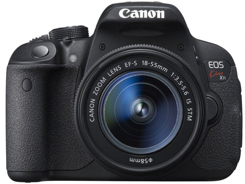 Canon EOS KISS X7I with 18-55mm Black Digital SLR Camera