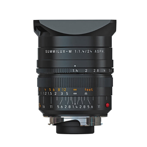 Leica Summilux-M ASPH 24mm f/1.4  Black Anodized Finish Lens