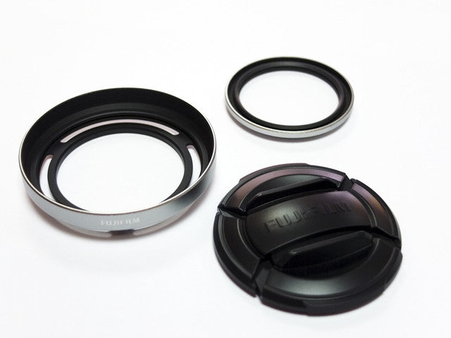 Fuji Film LHF-X20 Hood, Cap and Protector Filter 3 pc Set