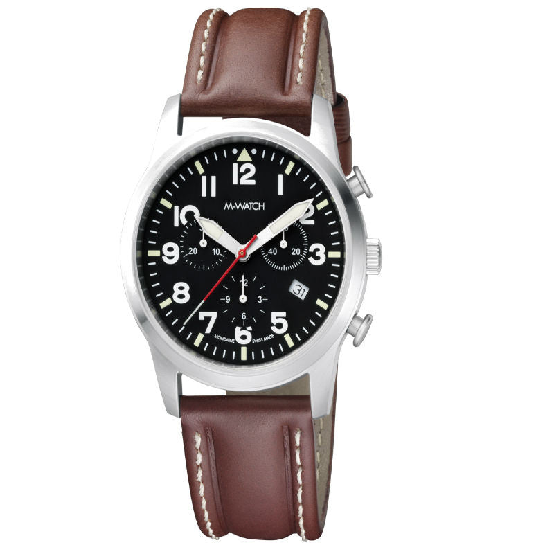 M-Watch Aero Chronograph Date A689.30408.01 Watch (New with Tags)