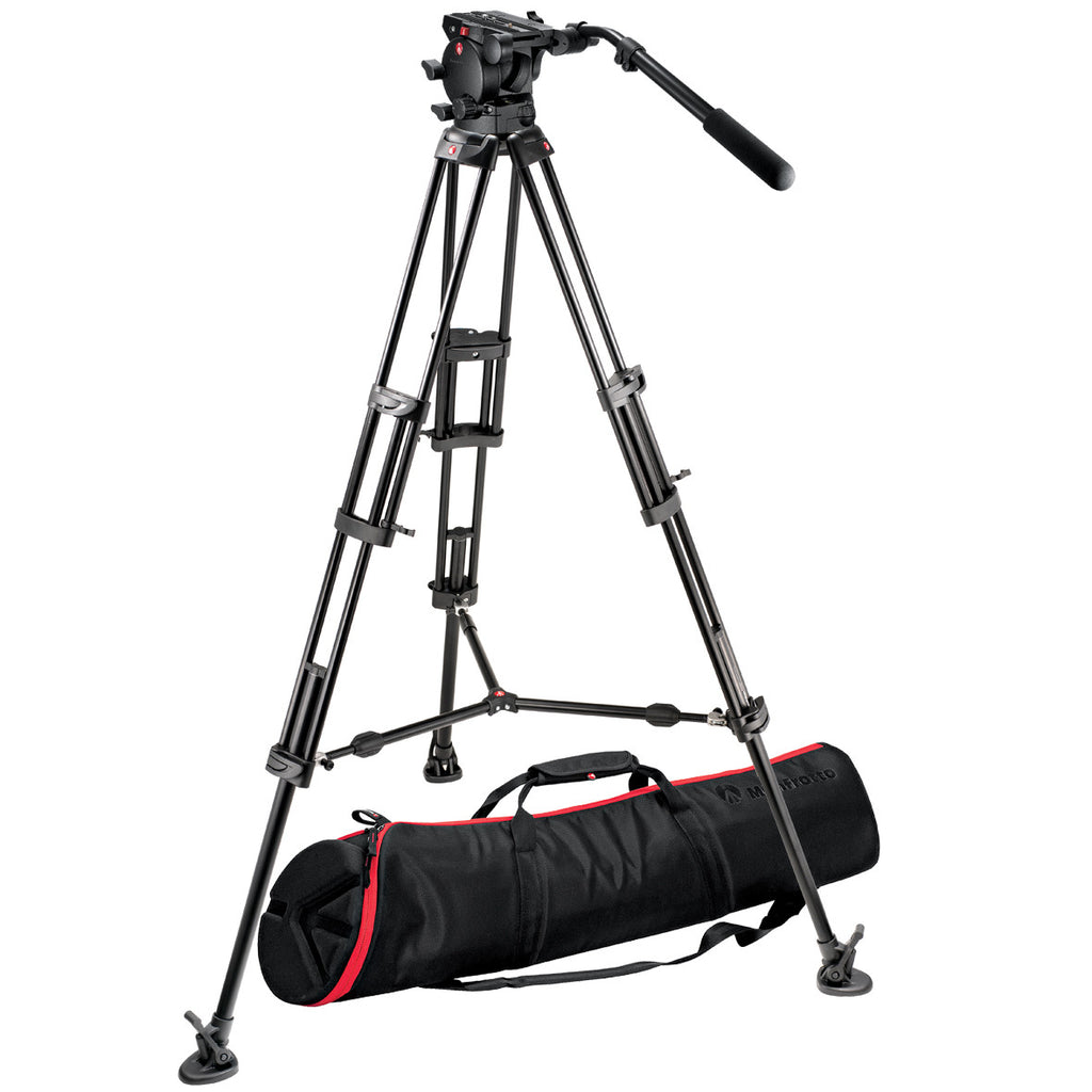 Manfrotto 526,545BK Video Kit with 526 Video Head and 545BK Tripod (Black)