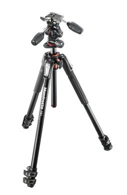 Manfrotto MK190XPRO3-3WCN 190 Aluminum Tripod with 3 Section Kit 3 Way Head