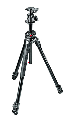 Manfrotto MK290DUA3-BH 290 Dual Kit, Aluminum 3 section Tripod with ball head