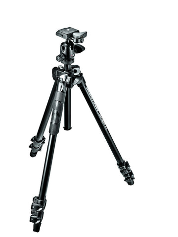 Manfrotto MK290LTA3-BH 290 Light Kit, Aluminum 3 section Tripod with ball