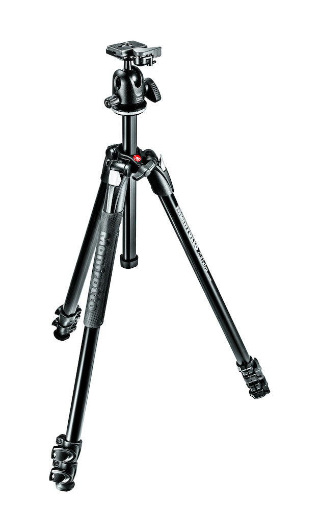 Manfrotto MK290XTA3-BH 290 Xtra Kit, Aluminum 3 section Tripod with ball head