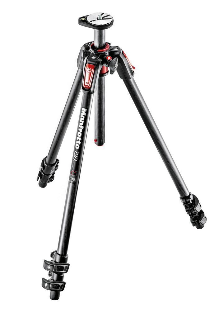 Manfrotto MT190CXPRO3CN 190 Carbon Tripod 3 sections with horizontal column