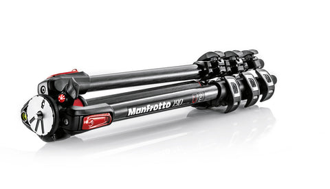 Manfrotto MT190CXPRO4CN 190 Carbon Tripod 4 sections with horizontal column