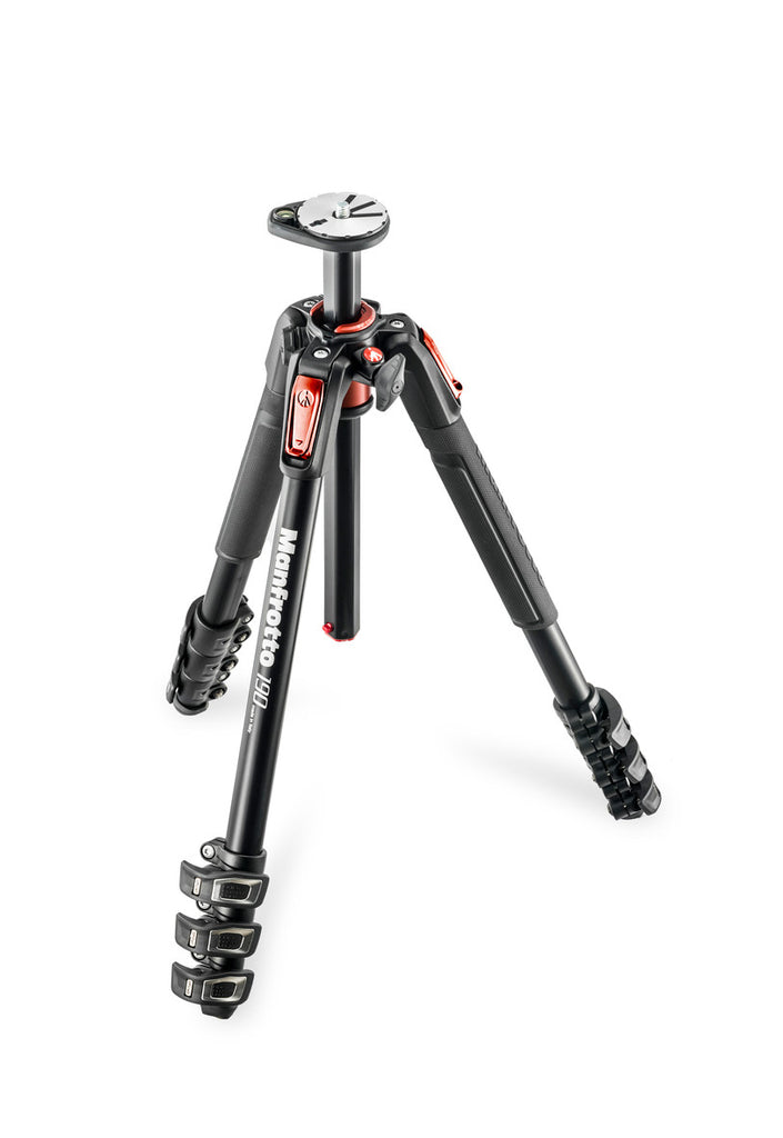 Manfrotto MT190XPRO4CN 190 Alu Tripod 4 sections with horizontal column