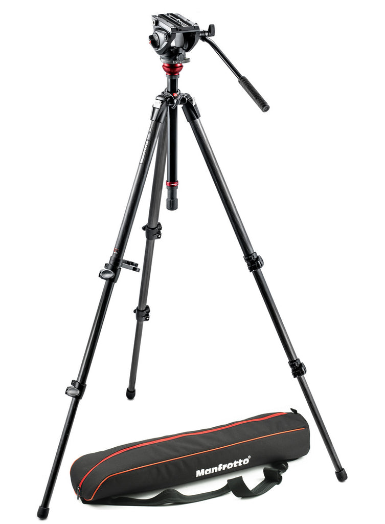 Manfrotto MVH500AH,755CX3 Fluid Head System with MDEVE Carbon Fiber