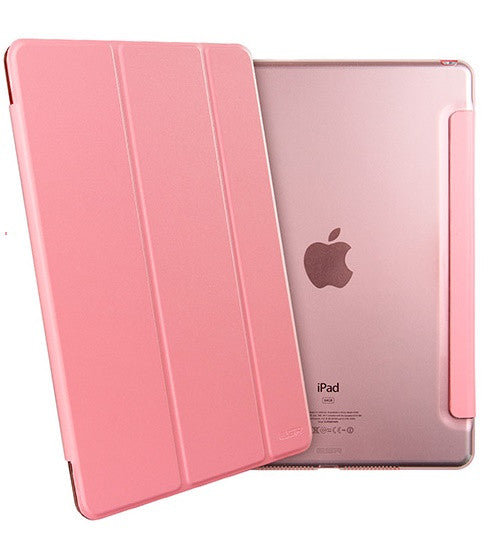 iPad Mini 4 Flip Cover with Hard Back Case (Peach Pink)