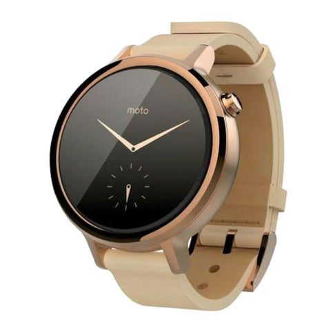 Motorola Moto 360 2nd Generation 42mm Blush Leather Women Smart Watch (Rose Gold Case)