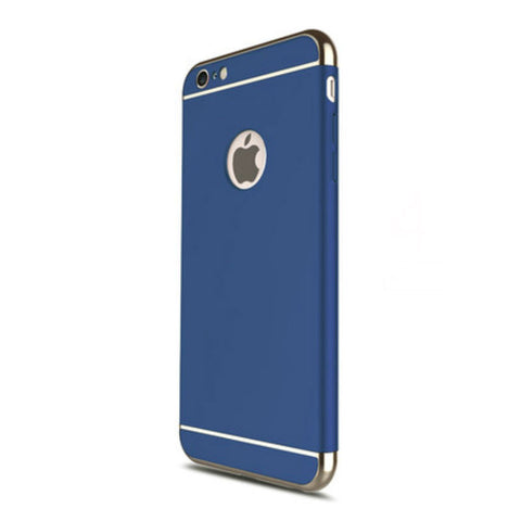 Hard Shell Case 5.5 inch for iPhone 6/6s Plus (Navy Blue Steel Film)