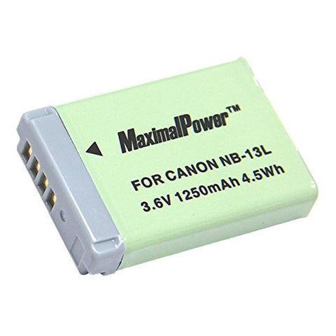 Maximal Power (Canon) NB13L Repalcement Battery