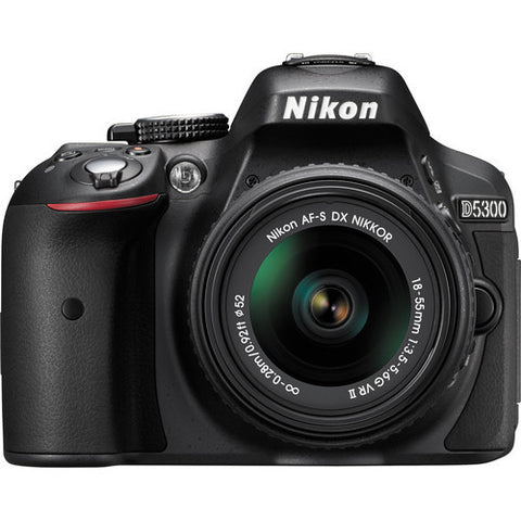 Nikon D5300 Kit with 18-55mm VR II Lens Black Digital SLR Camera