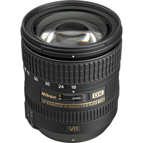 Nikon AF-S DX Nikkor 16-85mm f3.5-5.6G ED VR Lens (White Box)
