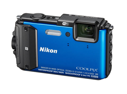 Nikon Coolpix AW130 Blue Digital Camera