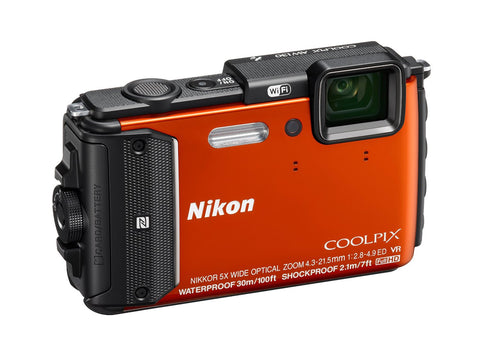Nikon Coolpix AW130 Orange Digital Camera