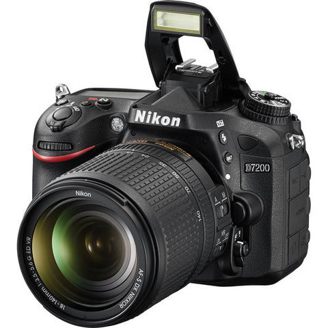 Nikon D7200 with 18-140mm  F/3.5-5.6 G ED VR Black Digital SLR Camera