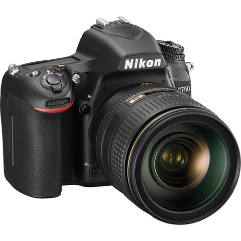 Nikon D750 with 24-120mm Lens Black Digital SLR Camera