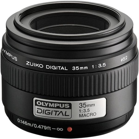 Olympus Zuiko Digital 35mm 1:3.5 Macro Black Lens