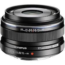 Olympus M.Zuiko Digital 17mm f/1.8 Black Lens