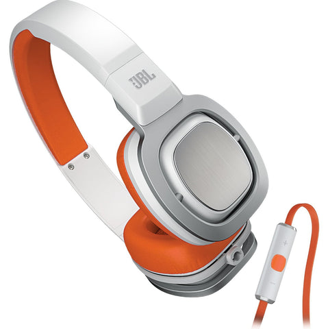 JBL J55i High Performance On-Ear Headphones Orange White