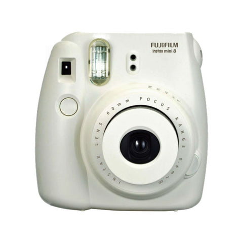 Fuji Film Instax Mini 8 White Instant Camera with Instax Mini (Frozen) Photo Paper