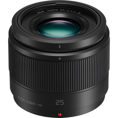 Panasonic Lumix G H-H025 25mm F1.7 Lens (Black)