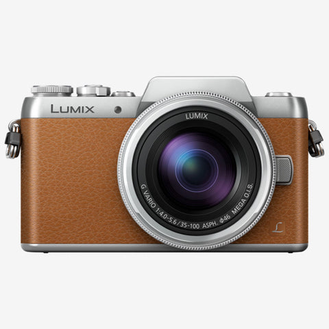 Panasonic Lumix DMC-GF8W with 12-32mm and 35-100mm Kit Lens (Brown Silver)