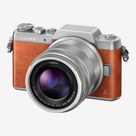 Panasonic Lumix DMC-GF8W with 12-32mm and 35-100mm Kit Lens (Orange Silver)