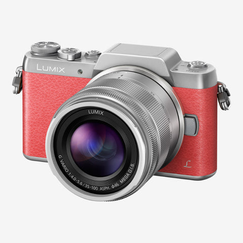 Panasonic Lumix DMC-GF with 12-32mm and 35-100mm Kit Lens (Pink Silver)
