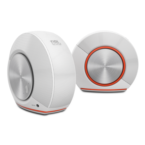 JBL Pebbles Stereo Computer System White