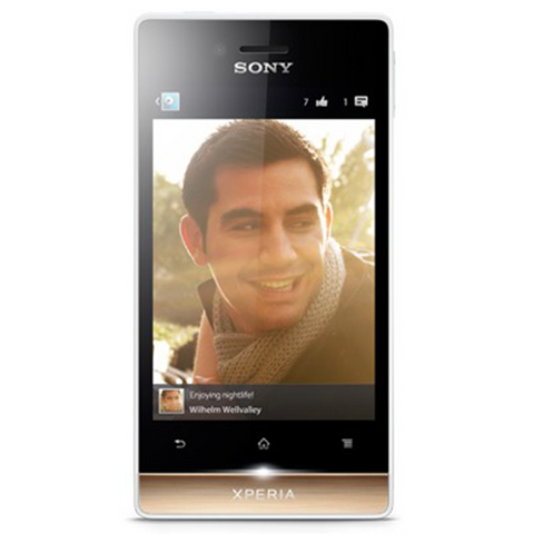 Sony Xperia Miro 4GB 3G White Gold (ST23I) Unlocked
