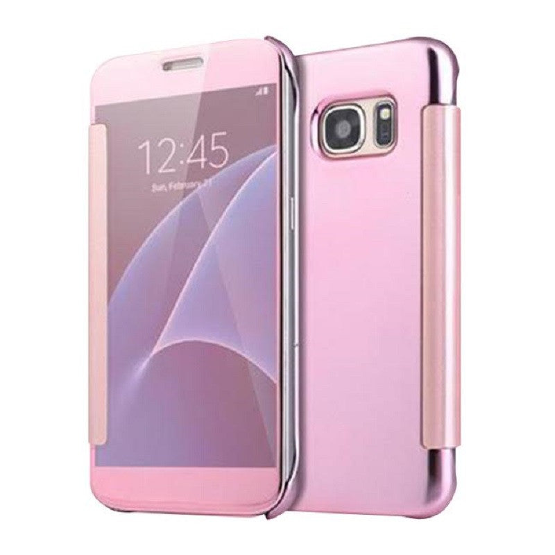 Smart Cover Phone Shell with Clip for Samsung S7 (Rose Gold)