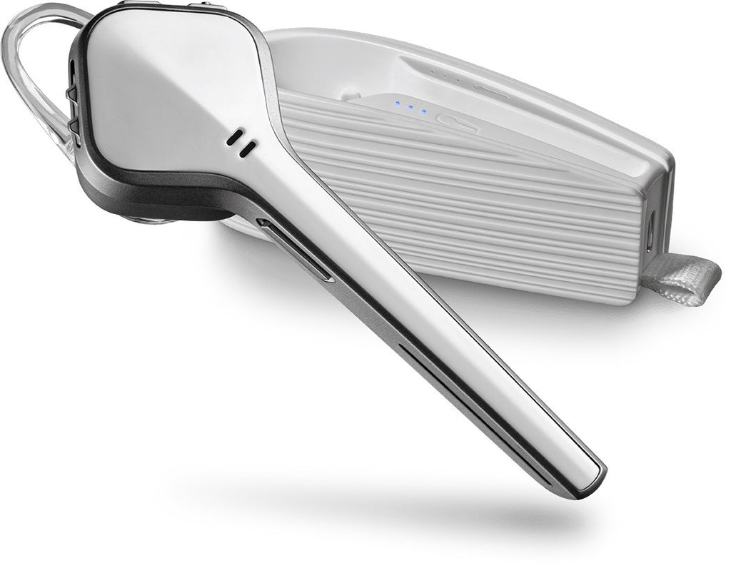 Plantronics Voyager Edge Bluetooth Headset with charging case (White)