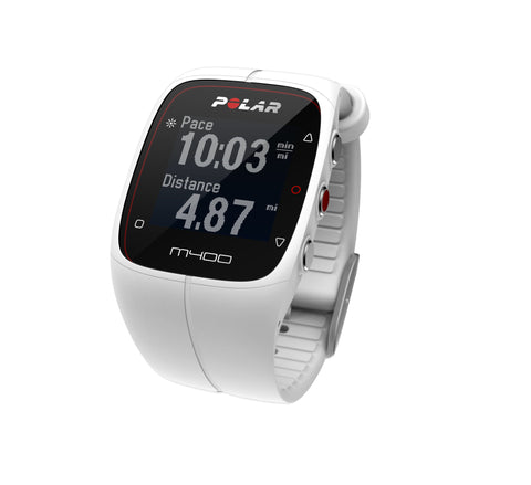Polar Running and Multisport M400 90051347 with Heart Rate Sensor GPS Sports Watch (White)