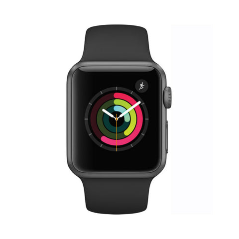 Apple Watch 1 38mm Space Gray Aluminum Case Sport Band MP022LL/A (Black)
