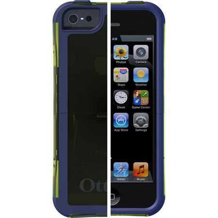 OtterBox Reflex Series for IPhone 5/5S Glow Green Translucent/Admiral Blue