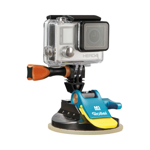 Rollei M1 Suction Cup Mount 4048805215218 GoPro Compatible (Blue)