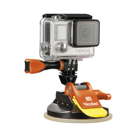Rollei M1 Suction Cup Mount 4048805215218 GoPro Compatible (Orange)