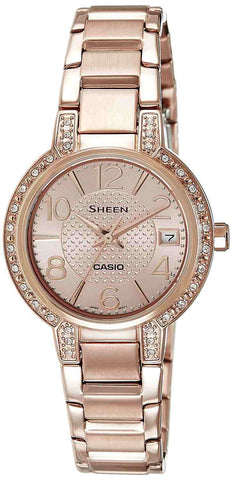 Casio Sheen SHE-4804PG-9A Watch (New with Tags)