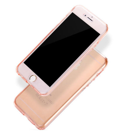 Ultra-thin Protective Soft Shell 360 Case 4.7 inches for iPhone 7 (Rose Gold)