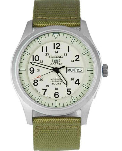 Seiko Desert Military Automatic SNZG07 Watch (New with Tags)