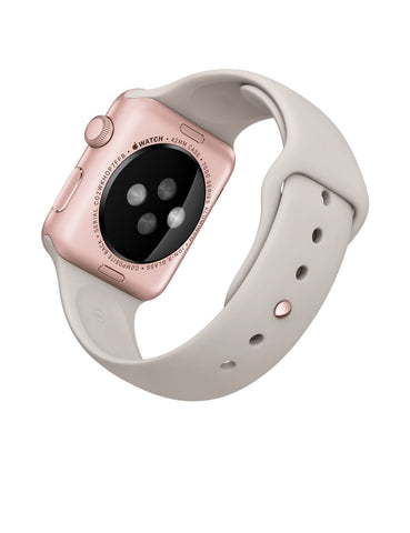 Apple Watch Sport 42mm Aluminum Case Stone Sport Band MLC62 (Rose Gold)