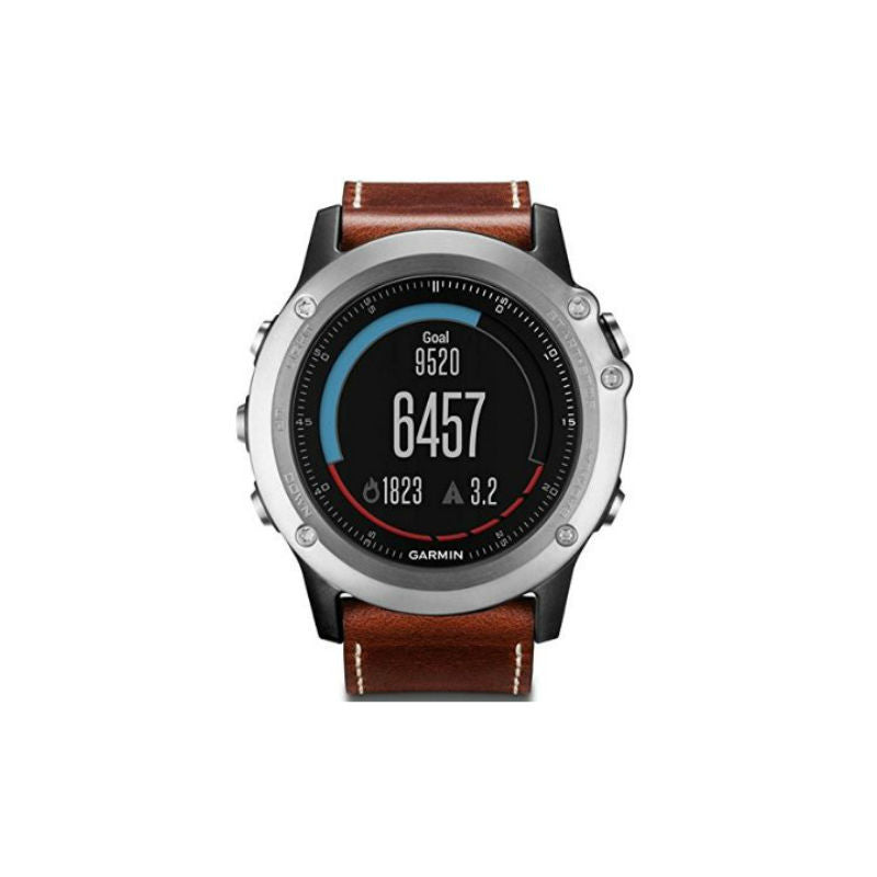 Garmin Fenix 3 Sapphire 010-01338-62 GPS Leather Band Watch (Brown)