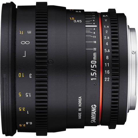 Samyang 50mm T1.5 VDSLR AS UMC Lens (Sony E)