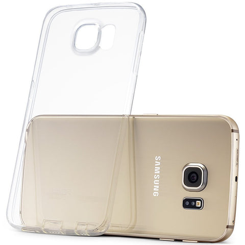 Samsung Galaxy S6 Edge Soft Silicone Case (Transparent)