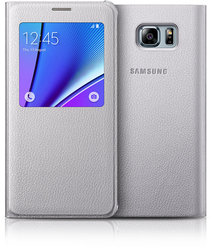 Samsung S-View Cover to suit Galaxy Note 5 EF-CN920PSEGWW (Silver)